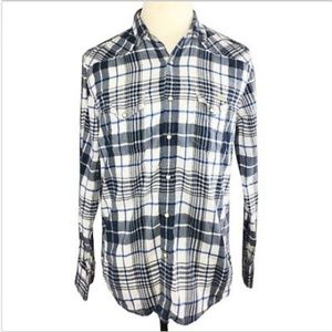 Lucky Brand Jeans Mens Classic Fit Snap Up Shirt